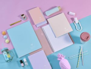 Clairefontaine Koverbook Blush Pastel Colour Stationery and Notebook Range