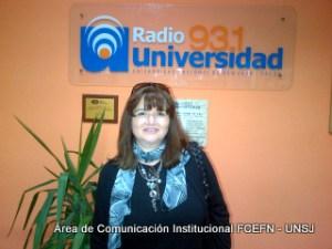 Nilda Mendoza, Directora del Departamento de Geología