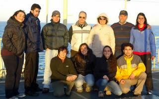 Cinco alumnos de la FCEFN participaron de un estudio en el mar argentino