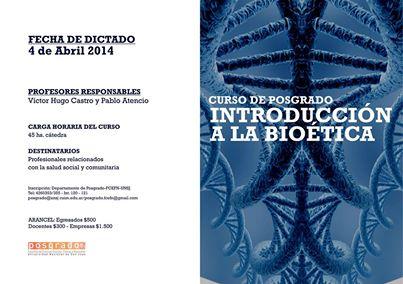 Curso de Posgrado: Introducción a la Bioética