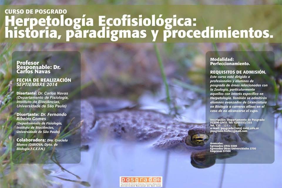 """Curso de Posgrado: """"Herpetología Ecofisiológica: historia, paradigmas y procedimientos"""""""