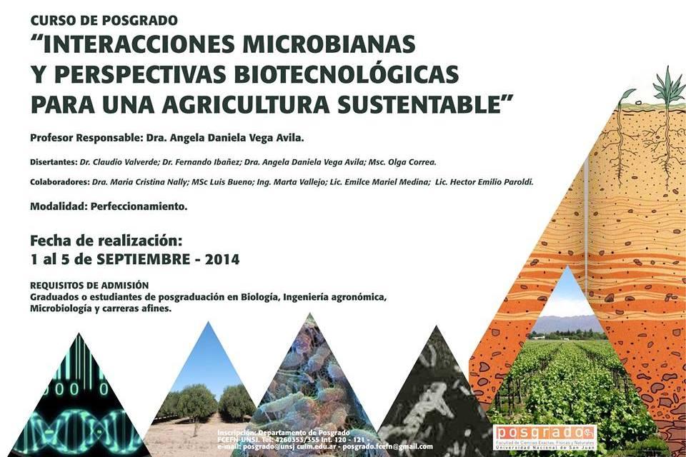 """Posgrado: """"Interacciones microbianas y perspectivas biotecnológicas para una agricultura sustentable"""""""