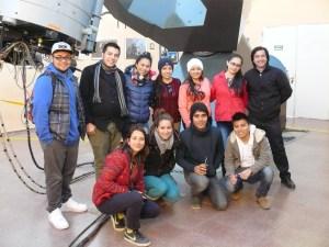Cuneo con alumnos en el Cesco