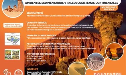 Curso de Posgrado: Ambientes Sedimentarios y Paleoecosistemas Continentales