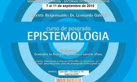 Curso de posgrado: Epistemología