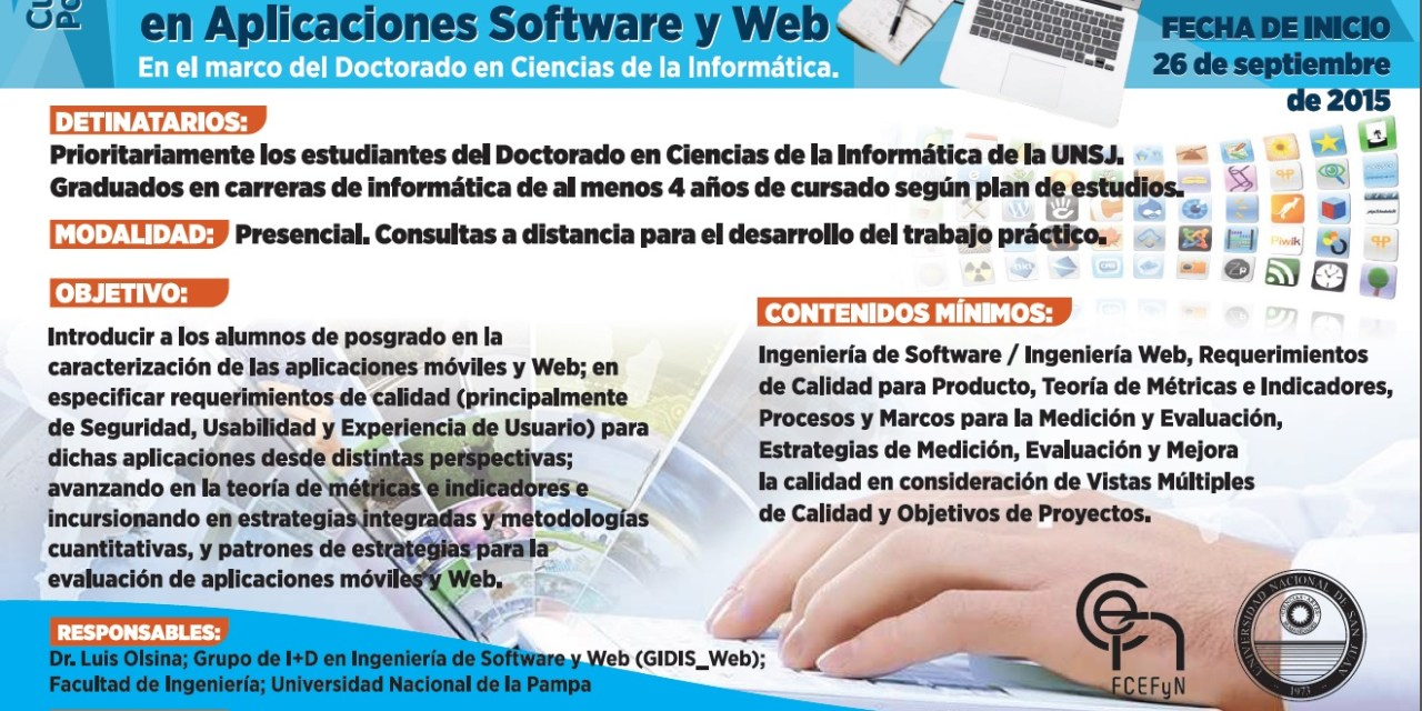 Posgrado: Estrategias de evaluación para comprender y mejorar calidad en aplicaciones de software y web