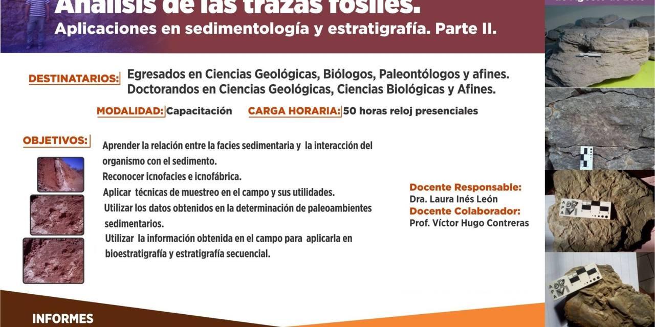 Taller de Campo: Análisis de las trazas fósiles. Aplicaciones en sedimentología y estratigrafía. Parte II