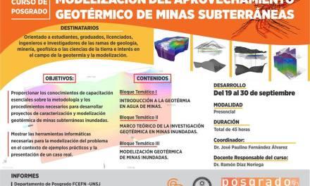 Curso de Posgrado: Modelización del aprovechamiento geotérmico de minas subterráneas