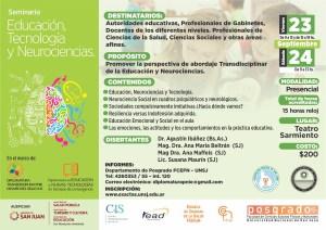 Seminario de Educación,Tecnología y Neurociencia