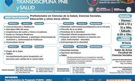 Curso IV de la Diplomatura en Transdisciplina PNIE: Transdisciplina y Salud