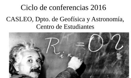 Astronomía: última charla del Ciclo de Conferencias 2016