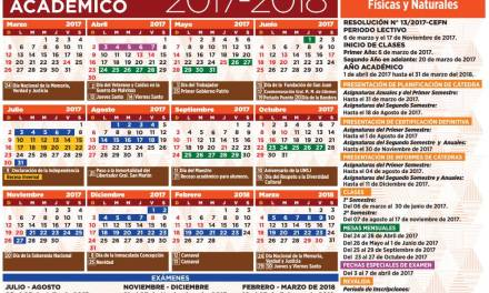 El calendario académico 2017- 2018 está disponible