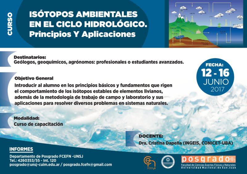 Isótopos ambientales en el Ciclo Hidrológico