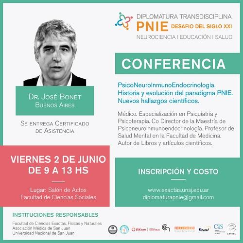 Conferencia de PsicoNeuroInmunoEndocrinología del Dr. Bonet