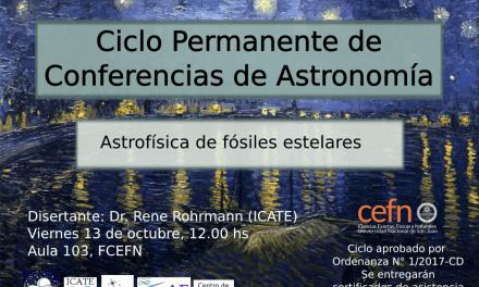 Ciclo de conferencias de Astronomía: Astrofísica de fósiles estelares