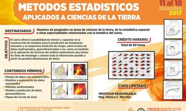 Métodos estadísticos aplicados a Ciencias de la Tierra