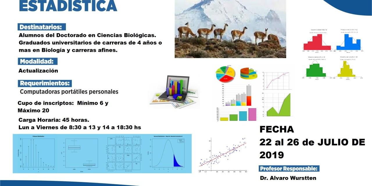 Curso de Posgrado de Estadística para biólogos