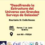 3ra Charla del Ciclo Permanente de Conferencias de Astronomía del 2019