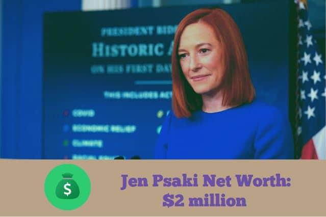 Jen Psaki Gregory Mecher . Jen Psaki Net Worth How Rich Is White House Press Secretary