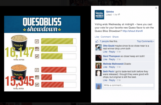 Qdoba Facebook Campaign