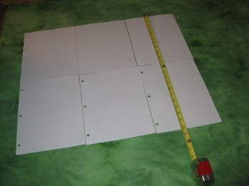 Measure out the size you need and tape the paper together