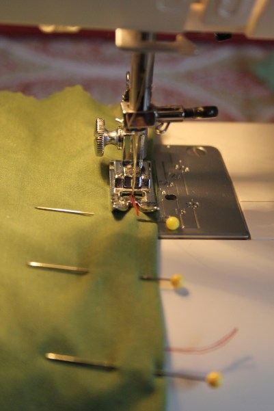 Sewing the dart