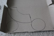 Trace the patterns onto the cardboard, your only need one of each.