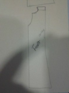 Front pattern sketch