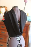 Cowl on back of top