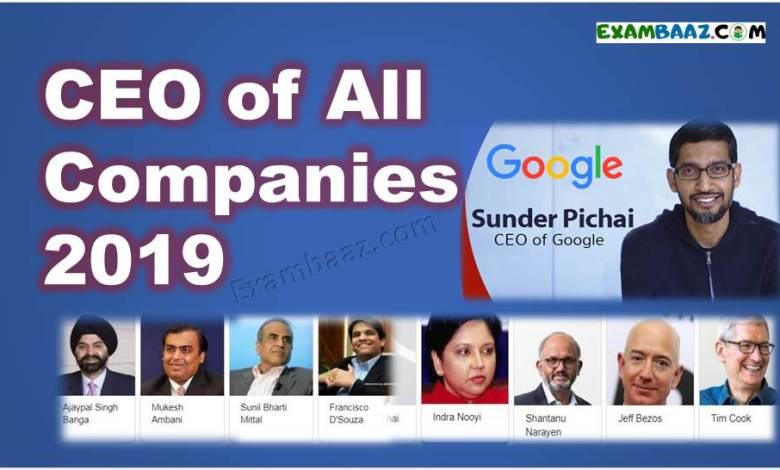 CEO list 2019