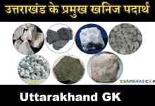 Photo of Minerals of Uttarakhand (उत्तराखंड के प्रमुख खनिज पदार्थ)
