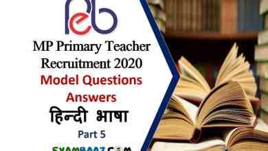 Photo of Hindi Question For MP TET 2020    हिन्दी भाषा प्रश्न उत्तर संविदा वर्ग-3