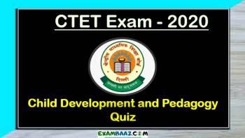 Child Development and Pedagogy Quiz For CTET