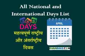 List of All National and International Days