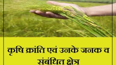 Photo of कृषि क्रांति एवं उनके जनक व संबंधित क्षेत्र: Krishi Kranti Evam Unke Janak