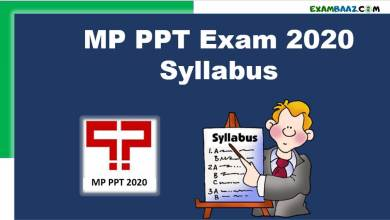 Photo of MP PPT Exam 2020 Syllabus ,Exam Pattern {download now}