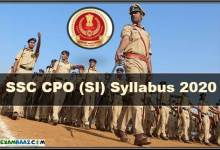 Photo of SSC CPO (SI) Syllabus 2020 PDF Download || Paper-1 & Paper-2
