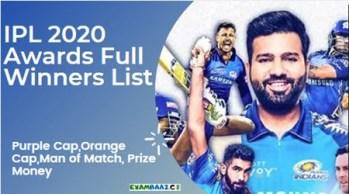 IPL 2020 Award Winners