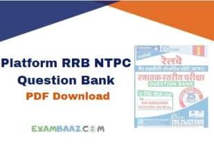 Platform RRB NTPC Question Bank pdf