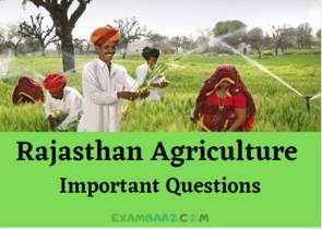 Rajasthan Agriculture Questions