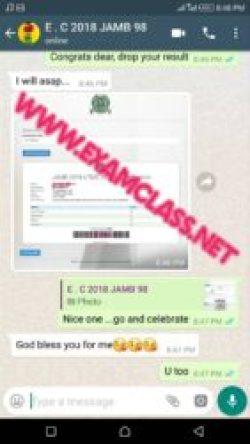 Jamb examclass whatsapp chat proof 16