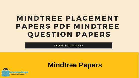 Mindtree Placement Papers