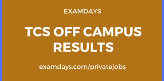 tcs off campus results