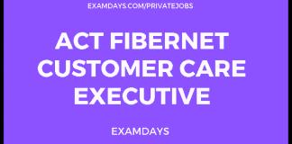 ACT FiberNET Customer Care Executive