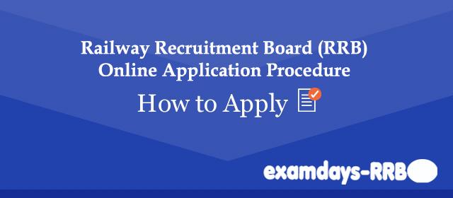 railway Recrtuiment Online Application Procedure - examdays