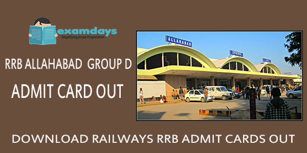 Download RRB Allahabad Group D Admit Card