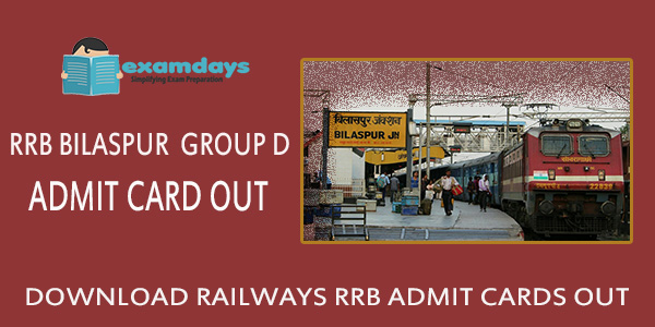 Download RRB Bilaspur Group D Admit Card