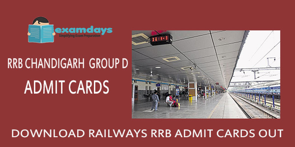 Download RRB Chandigarh Group D Admit Card