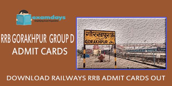 Download RRB Gorakhpur Group D Admit Card