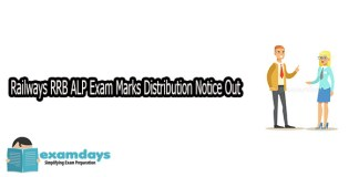 Railways RRB ALP Exam Marks Distribution Notice Out